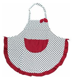 Canvas Black Polka dot Women Apron with bowknot Pocket Slim for Cooking dress Cheap Aprons, Aprons For Sale, Cute Aprons, Aprons For Men, Restaurant Aprons, Sewing To Sell, Sewing Aprons, Linen Apron, Apron Designs