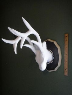 Faux Taxidermy Deer Mount  paper mache  Cruelty by DirtyPillowsMN. Cool future try to diy idea.  :)
