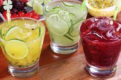 caipirinhas de várias frutas