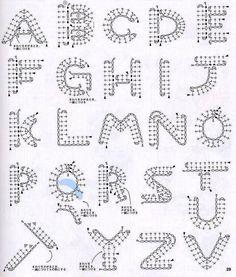 Solo esquemas y diseños de crochet: ABECEDARIO TEJIDO