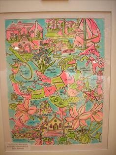 Bermuda by way of Cecile by Rebecca Allred Original Artwork