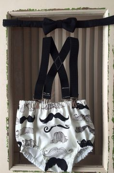 Mustache smash cake outfit by LittleEDesignSTL on Etsy, $43.00