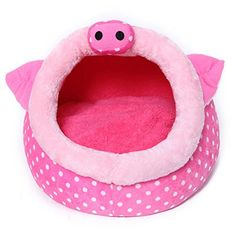 Pink Pig Shape Pet House Kennel Dog Cat Pen *** For more information, visit now : Cat condo