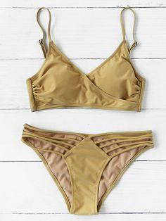 Shop Ladder Cutout Wrap Bikini Set online. SheIn offers Ladder Cutout Wrap Bikini Set & more to fit your fashionable needs.