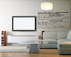 Famous Movie Quotes Wall Quotes Decal Collection by danadecals