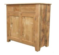 Amish Barn Wood Double Abe Dining Room Server Rustic look for your kitchen or dining room storage. Made with authentic barnwood. #server #rusticfurniture