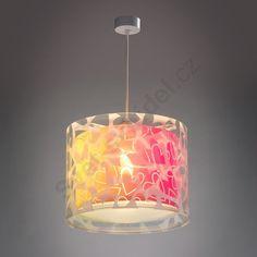 Moderní závěsné svítidlo.Svítidlo se srdíčkovým motivem pro mladistvý interiér.Dvouplášťový efekt vytváří jedinečný design.Žárovka není součást balení.Je vhodné použít úspornou nebo LED žárovku.Energetická třída: A++ až C.Všechna svítidla Dalber podstupují bezpečnostní testy a jsou vyrobena z vysoce odolných materiálů.