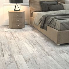Kielder Light Grey Wood Effect Glazed Porcelain W&F Oak Laminate Flooring, Solid Wood Flooring, Engineered Hardwood Flooring, Light Grey Wood Floors, Grey Wood Tile, Tile Bedroom, Barn Kitchen, Concrete Wood, Grey Oak