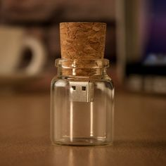 Perfect for those in an Long Distance Relationship (aka LDR). So clever! Message in a Bottle USB Flash Drive at Firebox.com