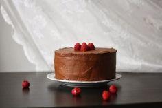 Děvče u plotny - Čokoládový dort s malinami