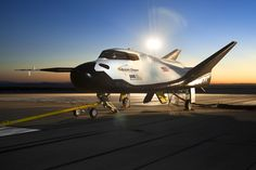 The Sierra Nevada Corporation's Dream Chaser flight vehicle prepares for ground tests at NASA's Dryden Flight Research Center in California on Aug. 2, 2013.