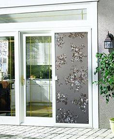 Lifetree Lichtbrechung Fensterfolie ohne Klebstoff Dekorfolie Fensterschutzfolie Monatsrose 45*200CM