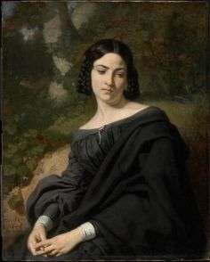 A Widow        1840      Thomas Couture, French, 1815–1879    Dimensions      92.1 x 73.6 cm (36 1/4 x 29 in.)  Medium or Technique      Oil on canvas  Classification      Paintings     Type      Portrait - Single - Female; Figure  Accession Number      23.499  On view      Polly B. and Richard D. Hill Gallery (Europe, 1800–1900) - 253