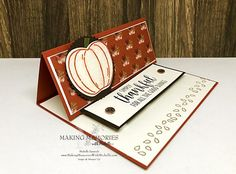 Last-Minute Thanksgiving Place Settings - Michelle Zanavich, Stampin' Up! Thanksgiving Prayer, Easel Cards, Little My, Last Minute, Making Memories, Place Settings, Stampin Up, Autumn Cards, Joy