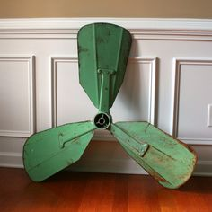Industrial Home Decor. Ship Boat Propeller. Turquoise Green. Potential Wall Hanging, Pendant Light, Coffee Table Base. Nautical Beach Decor, via Etsy.
