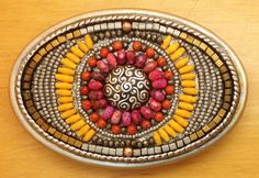 Here Comes The Sun. Beaded belt buckle