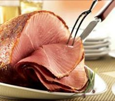 How to Bake a Honey Glazed Ham | ifood.tv (Replace water with pineapple juice!....Use spiral cut pre-cooked ham.)