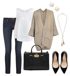 """""""Untitled #338"""" by angela-reiss on Polyvore featuring J Brand, Kate Spade, Mulberry, Zara and J.Crew"""