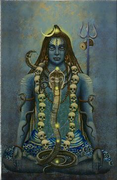 Lord shiva as yogi