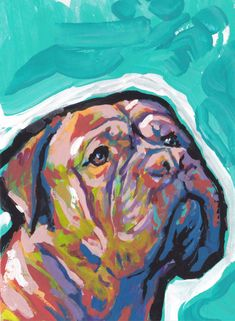french mastiff dogue de bordeaux portrait art by BentNotBroken Dog Pop Art, Dog Art, Unique Animals, Animals Beautiful, Little Puppies, Dogs And Puppies, Bordeaux Dog, Mastiff Dogs, Mundo Animal