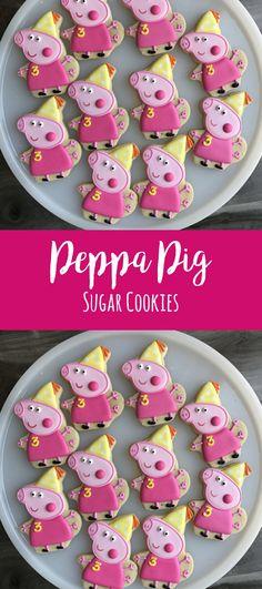 Peppa Pig Cookies/ Peppa Pig Birthday Cookies #affiliate