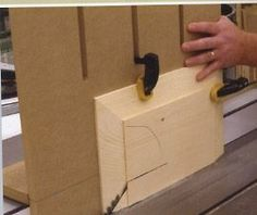 This simple to build jig can transform a table saw into a raised panel cutter. Once again the box design of most table saw fences provides the stable and precise track for this jig.