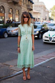 vintage mint green lace . . . lovely