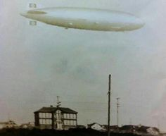 The Hindenburg - passing over the Beach Haven school - May 6, 1937