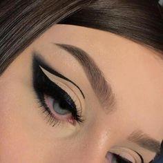 Glam Makeup Look, Edgy Makeup, Grunge Makeup, Clown Makeup, Pretty Makeup, Makeup Looks, Eyeliner Looks, No Eyeliner Makeup, Winged Eyeliner