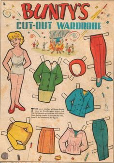 Bunty Comic Book Paper Doll I had a huge collection of bunty cut-out dolls, I kept them in an old shirt box of my dad's, and they all had a name 1970s Childhood, My Childhood Memories, Baby Girl Toys, Toys For Girls, Comic Book Paper, Comic Books, Up Book, Vintage Paper Dolls, My Memory
