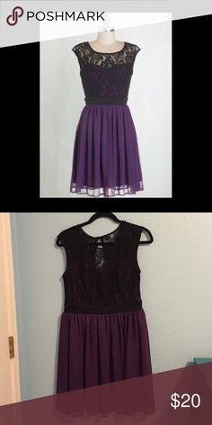 Modcloth Dress - Shortcake Story Dress in Purple Purchased in 2015 and worn a handful of times. Most of the fabric provides stretch, but the waist band is pretty taut at the seams. Quality material. Mystic Dresses Mini