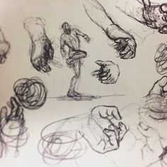 #human and #hand #studies during the long downtimes at work. Not a bad way to pass time i guess. :)