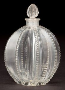 Art Glass:Lalique, R. LALIQUE CLEAR GLASS GREGOIRE PERFUME BOTTLE AND STOPPER .Circa 1927. Molded: R. LALIQUE, FRANCE .