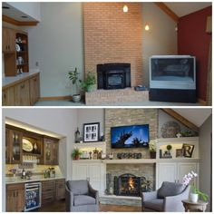 Before and After: Fireplace Wall Gets an Update!