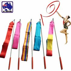 Easy and Fun to Handle, Great for Dancing, Twirling! Material: Stick - Fiber Reinforced Plastics / Ribbon - Brocade. Length of Ribbon: 3.8 meters. Width of Ribbon: 4.5cm. For the mix option, we'll select the color by random, might not include all the available colors.   eBay!