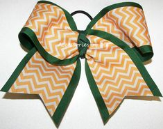 Bulk Cheer Bow, Green Gold Cheer Bow, Forest Green Yellow Gold Chevron Cheer Bow, Bulk Cheerbows, 6 Inch Hunter Forest Dark Green Team Bows Softball Hair Bows, Volleyball Bows, Cheerleading Bows, Softball Shirts, Chevron Bow, Green Chevron, Big Cheer Bows, Softball Cheers, Softball Hairstyles
