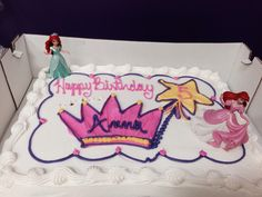 Little Mermaid figurines on Costco Princess cake