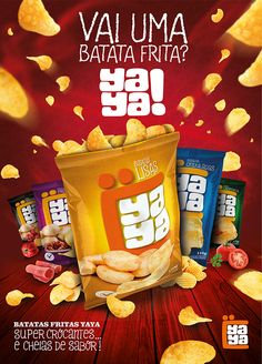 Key visual for the launch of the brand YAYA fries. Packaging Snack, Biscuits Packaging, Organic Packaging, Brand Packaging, Packaging Design, Ads Creative, Creative Posters, Creative Advertising, Advertising Design