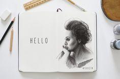 #ink #inktober #mermaid #тушьперо #graphic #графика #platinumpen #sketch #скетч #sketchbook #рисуноктушью #b&w #blackandwhite #эскиз #art #portrait #портрет #adele #hello