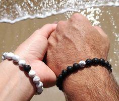 Couples Bracelet Long Distance Relationship Bracelet Distance Bracelets Matching Bracelets His and Her Lava/howlite Couples Jewelry Bracelet Couple, Promise Bracelet, Matching Couple Bracelets, Couple Jewelry, Bracelets For Men, Jewelry Bracelets, Pearl Necklaces, Bracelet Distance, Long Distance Bracelets