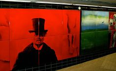 art in a Stockholm subway station
