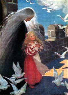 Art by Jessie Willcox Smith (1920) - The Princess and the Goblin.