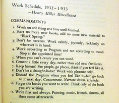 Rules for writing.