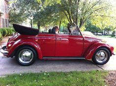 old red bug convertible