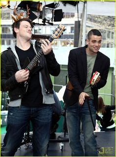 Cory Monteith and Mark Salling- these two always have the best facial expressions.