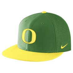 31bdaafc33e Oregon Ducks Nike Laser Perforated Flatbill True Performance Adjustable Hat  - Apple Green Yellow
