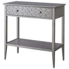 Threshold� Fretwork Console Table