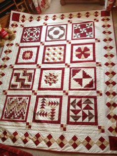 Sampler quilt project finished !,