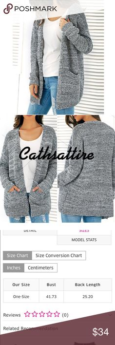 """❤️One Day Sale❤️ Cardigan, knitted and open front for fall.  Coming soon.  Casual and comfy.  Bust 41"""". Length 25"""". So pretty. FIRM PRICE. Sweaters Cardigans"""