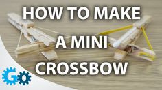 Turn your clothes pegs into a mini crossbow. http://www.youtube.com/watch?v=d_NkUbx7a4M
